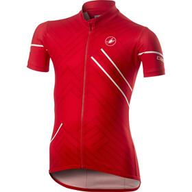 Castelli Campioncino Koszulka z krótkim rękawem Dzieci, czerwony
